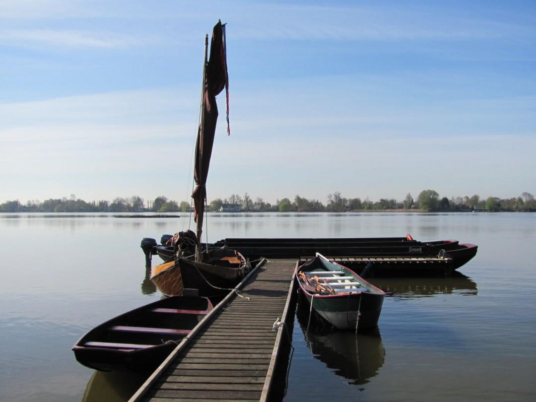 Historische boten in het Reeuwijkse plassengebied